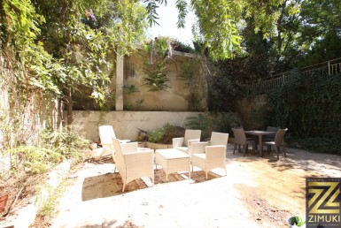 Garden apartment for sale in the german colony jerusalem
